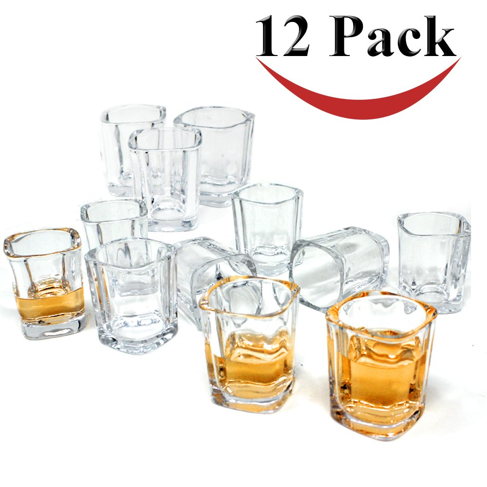 Get Quotations Jalousie 12 Pack Clear Glass 2 Ounces 24 Inch Tall Shot Tumbler Cup For Coffee