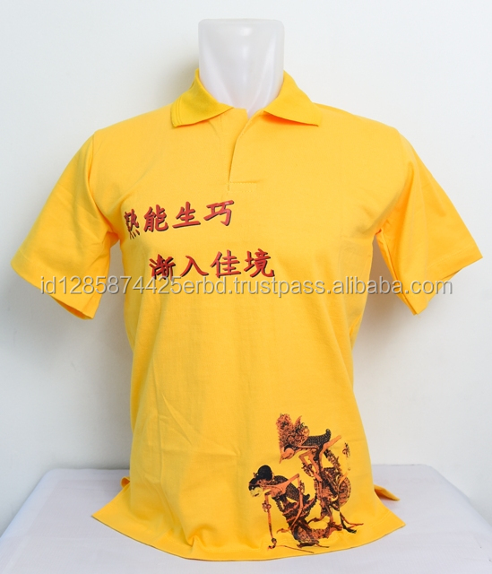 Jepege tshirt oblong polo variations of screen printing