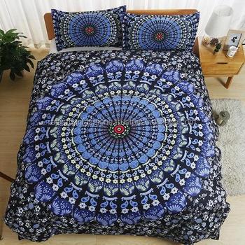c781039af Indiano Mandala Bela Capa de Edredon 100% Algodão Puro Capa de Edredão Para  Casa Decorativa