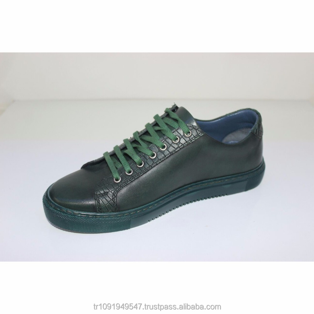 Men Shoes Turkey Shoes Trend Genuine Green Colours From Sports Fashion Leather zfP5xqS