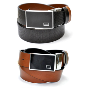 New Pattern Reversible Black, Camel Color Genuine Leather Belt for Men