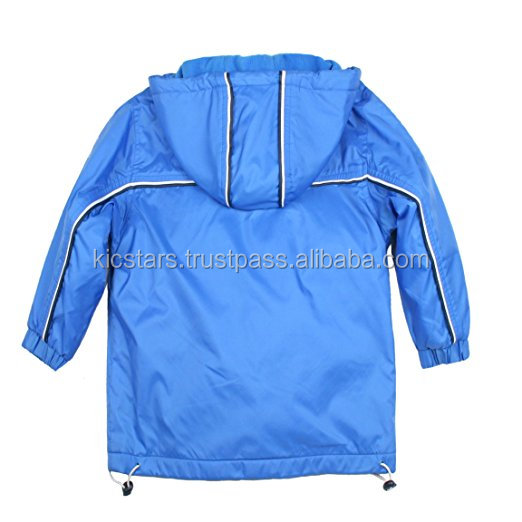 Blue Taffeta Rain Jackets For Kids 2019