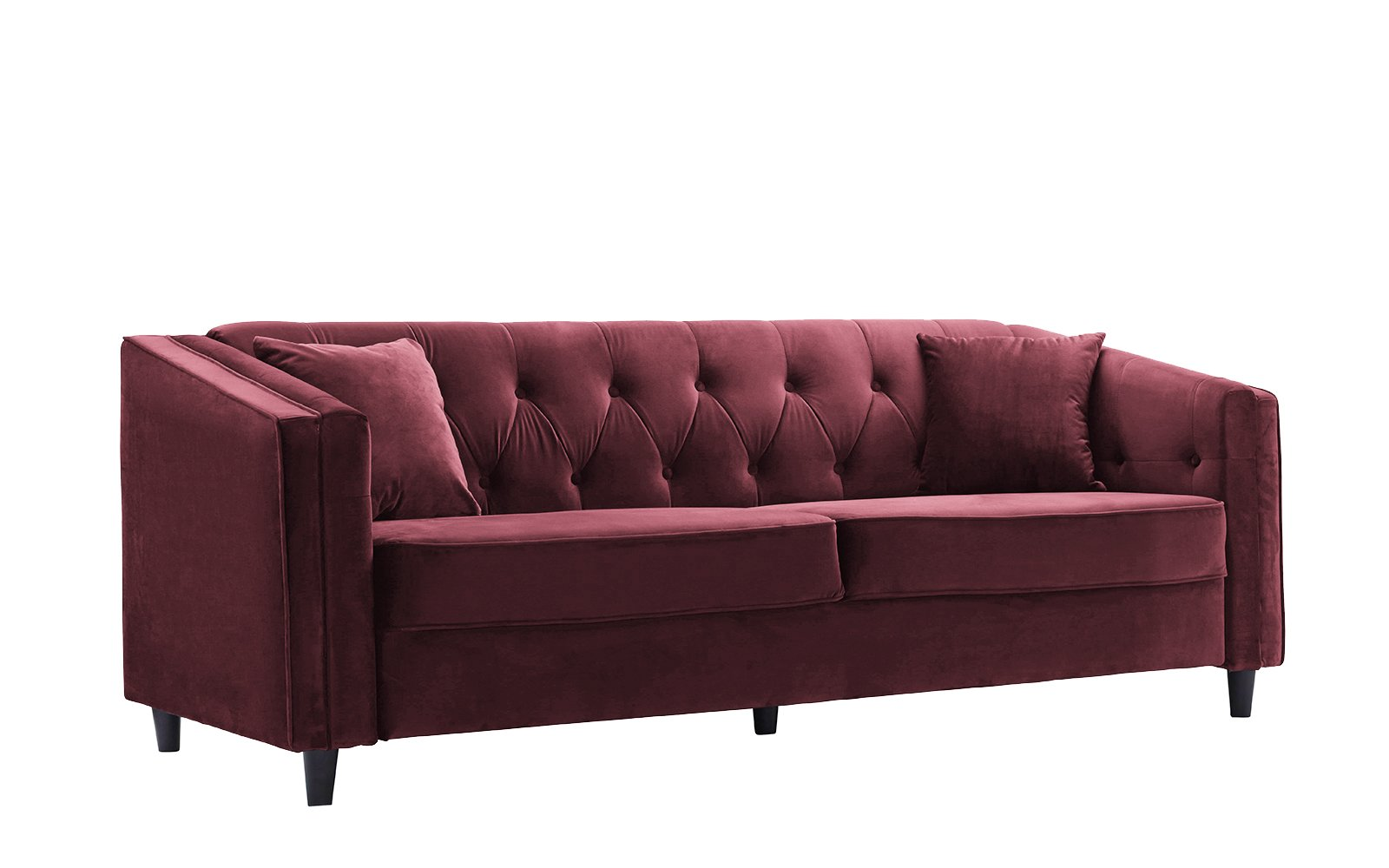 Get quotations · classic victorian style tufted velvet sofa living room couch with tufted buttons maroon