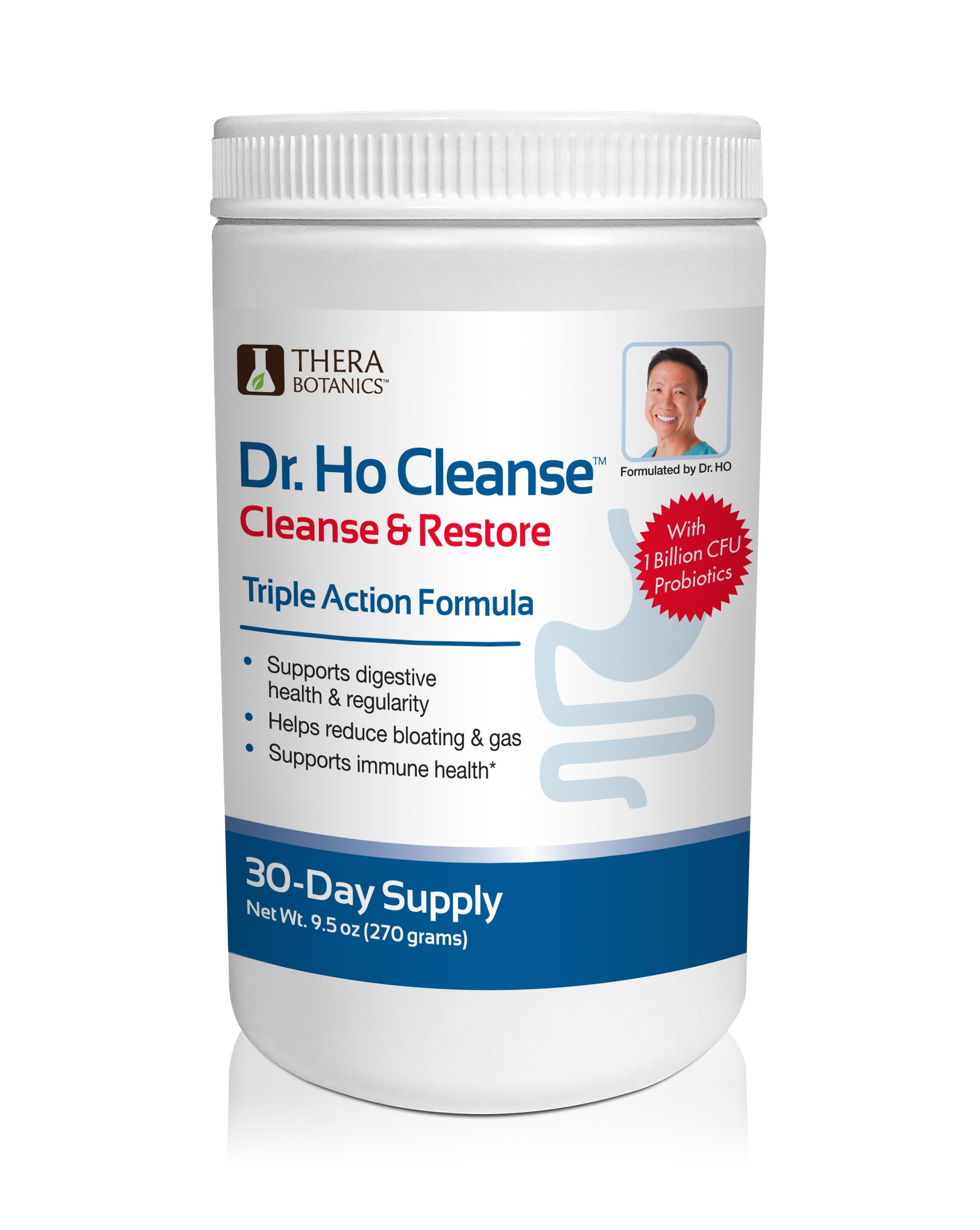 Dr. Ho Cleanse & Detox-Eliminate Built-up Toxins and Waste; Relieve Discomfort from Constipation, Gas, & Upset Stomach; Feel Lighter, Slimmer & Energized