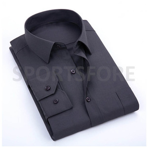 Mens Classic Fashion Work Office Long Sleeve Casual Formal Dress Shirts