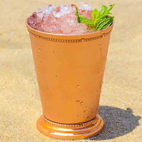 Handmade Copper Moscow Mule Mint Julep Cup - Beautifully Handcrafted With 100% Pure Copper