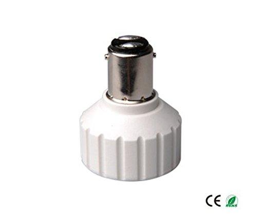E-Simpo® 15-pack BA15D to Gu10 Adapter,BA15D to Gu10 Lamp Base Converter, Z1069