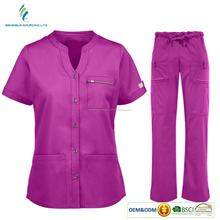 100% Cotton custom woman and man hospital working clothes spa salon beauty medical nurse