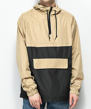Wholesale Mens Fashion Streetwear Fully Customized Two color Pullover Anorak Jacket With Half Zipper