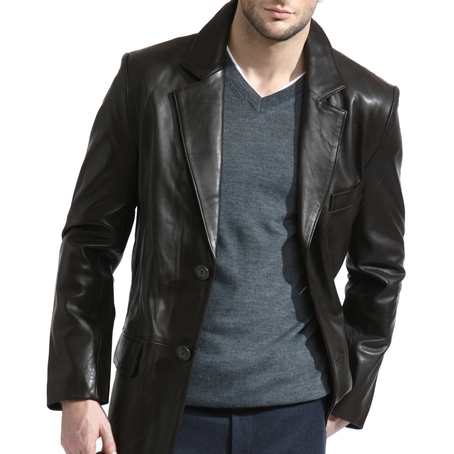 The Leather Sports Jacket/mens Leather Blazer/leather Jacket Casual/leather  Jacket Office And Party Wear , Buy Red Leather Blazer,Mens Leather