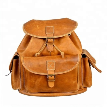 Leather Hiking Backpack