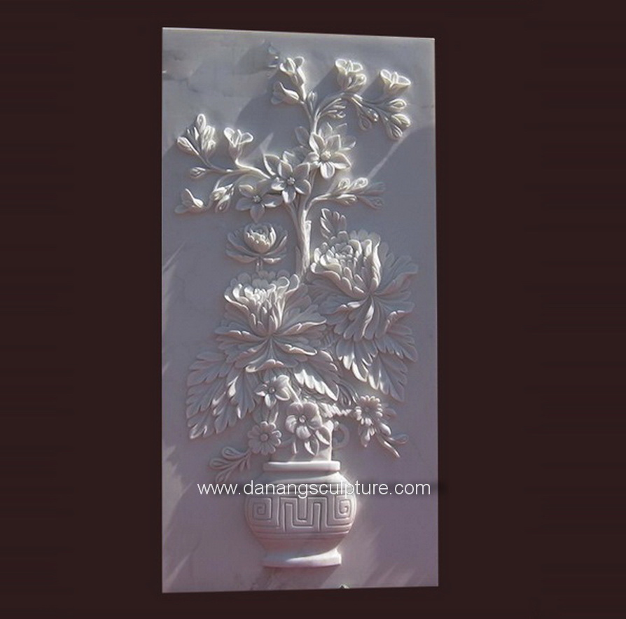 Home Decoratie Bloem stone relief DSF-PD12