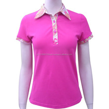 New design customer made sublimation polo t-shirts for women's