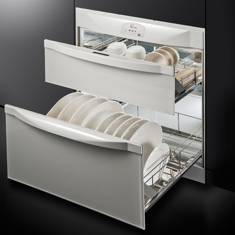 Dish Disinfecting Cabinets 2 Drawer Storage