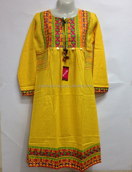 f1e43ec6966 Ladies Embroidered and Stitched Kurti with Latest and Attractive Designs  Loose Fit Size
