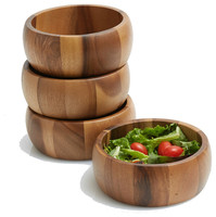 A good quality wooden salad bowl natural wood 100% handmade craft cheap products buying in large quantity