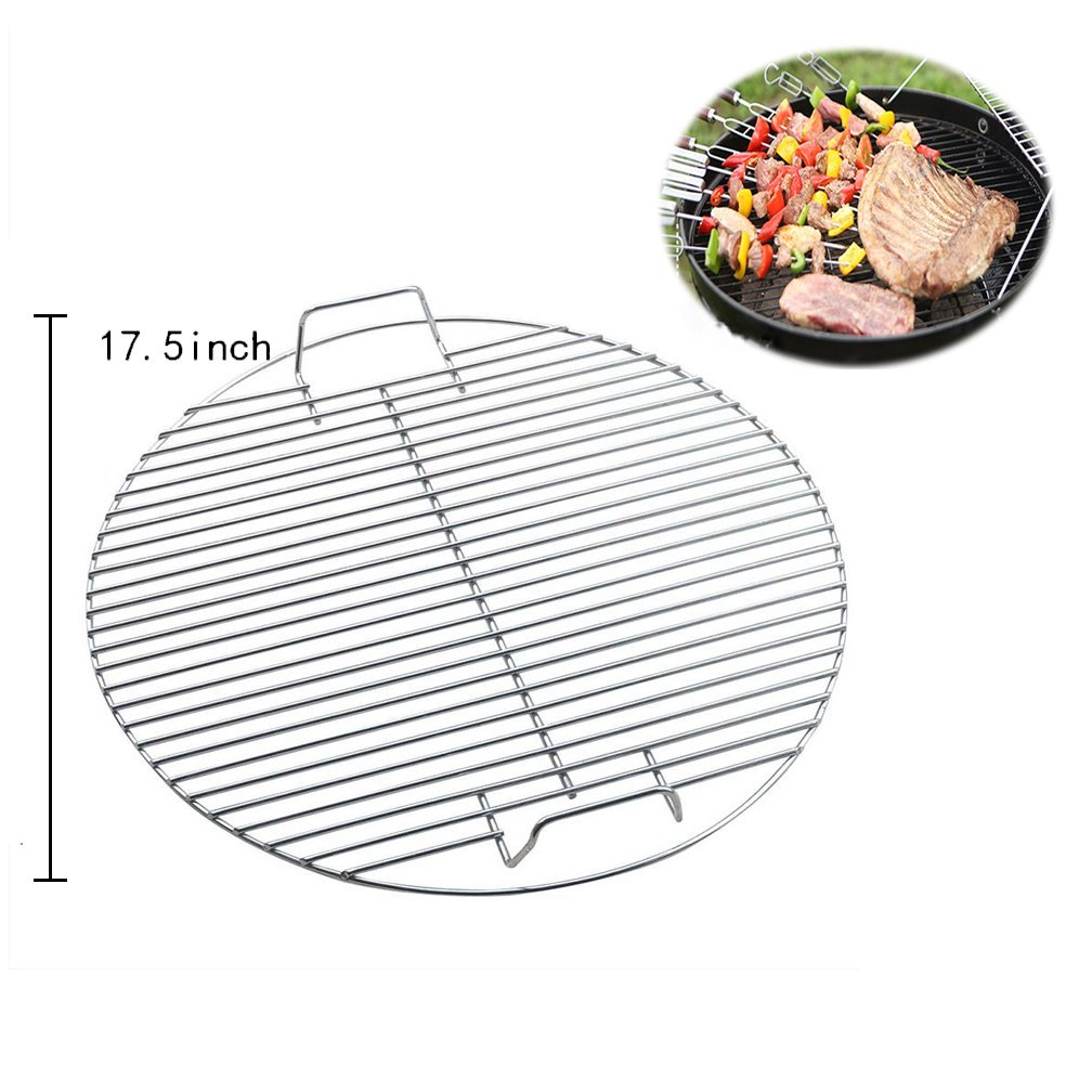 BBQ WINJ BBQ Grates Fire Grate BBQ NET Pit Barrel Barbecue Grill Fire Pit BBQ Cooking Grate, Heavy Duty 44.5cm bbq net Barbecue Grid Replacement Barbecue Cooking Grates (Round Basket)
