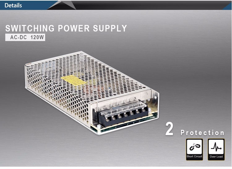 S-120-12 Switching Power Supply 12v 10A S-120-24 Power Supply 24V 5A 120W Switching Mode Power Supply 12vdc 24vdc output ac