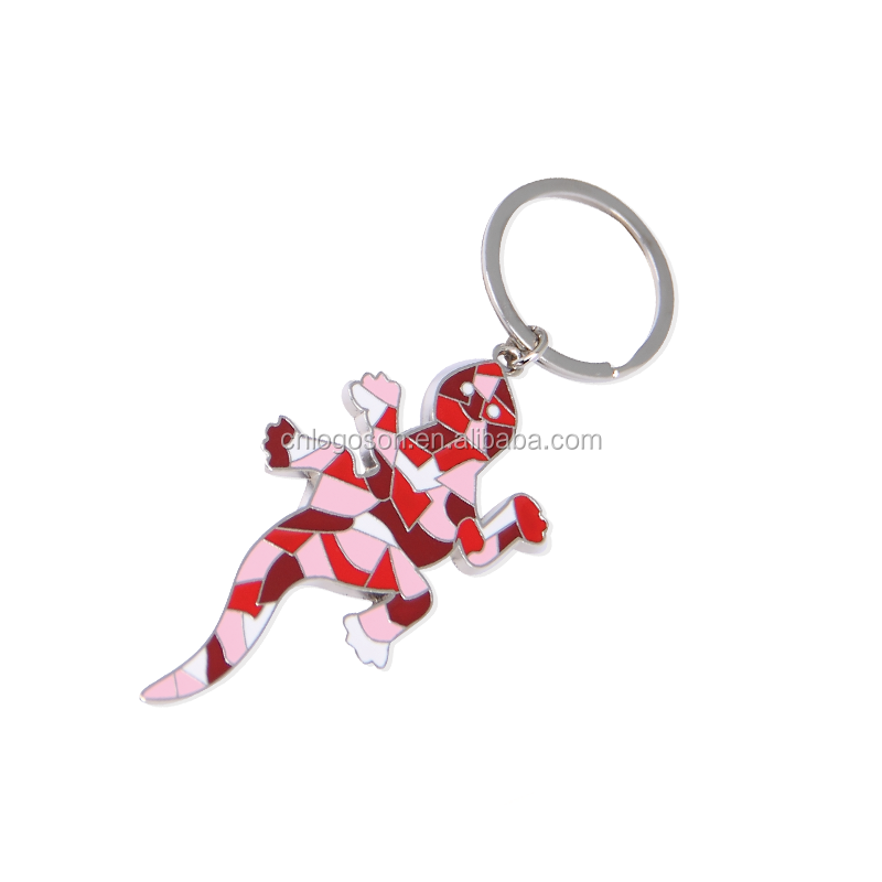 presentes do casal gravado animal em forma de geckoKeychains chaveiros de metal animal