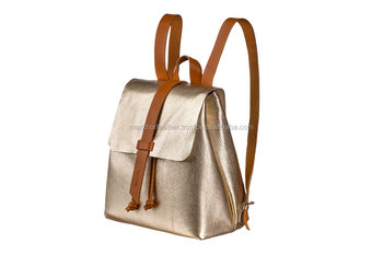 Wholesale Leather Mini Backpack  Gold Leather Backpack  Leather Tote Bag   Women Gold Bag 7da487658