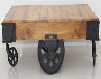 Industrial Cart Coffee Table Indian Cart Coffee Table Jodhpur Antique  Furniture On Wheels Vintage Cart Coffee Table   Buy Wooden Coffee  Tables,French ...