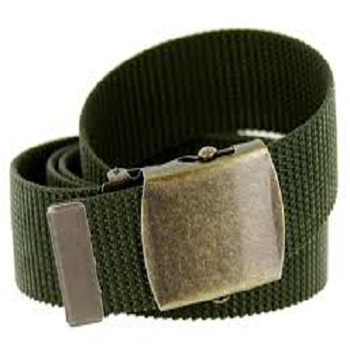 Military Green Pp Webbing Belt With Metal Buckle - Buy Military Use Black  Pp Webbing Belt With Square Buckle,Safety Pp Belt For Military Use,Strong  Pp