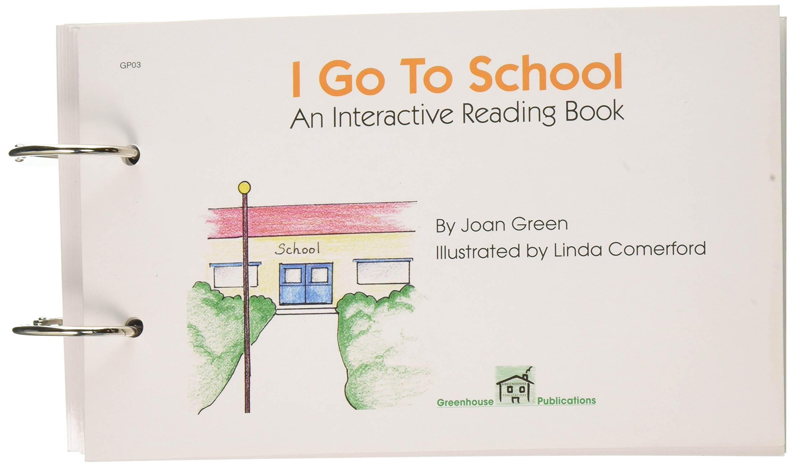 "School Specialty 017251""I Go to School"" Interactive Reading Book"