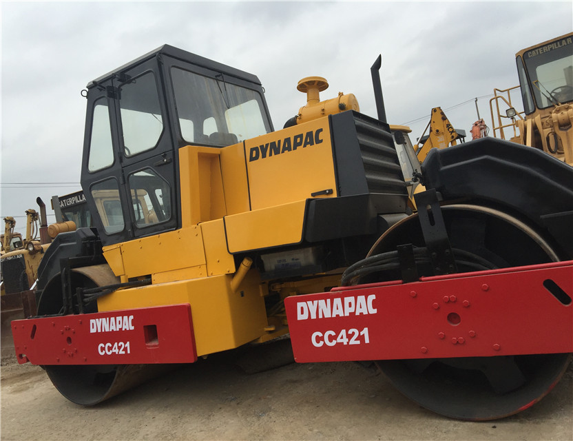 SECONDHAND Double Drum Road Roller DYNAPAC CC421 Original From Sweden used Road Roller DYNAPAC CC421