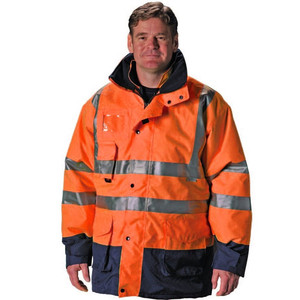 Mens Reflective Orange Winter Safety Coat For Sale