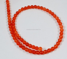 different different color smooth round beaded orange carnelian color jade beads 4 mm