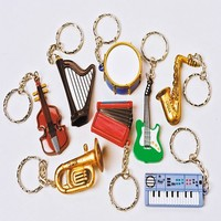 MUSICAL INSTRUMENT KEYCHAINS #KC227