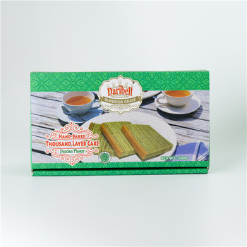 Wholesale Singapore Food Thousand Layer Cake pandan flavor