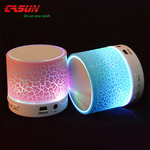 Tube 2018 popular music mini Bluetooth led light speaker with kind of color