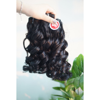 Hair Raw Unprocessed Human Hair Extension Vendors Virgin Remy steamed Big Curly Hair after wash