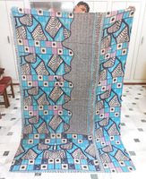 rajasthani kantha reversible quilt throw-Vintage kantha quilt-bohemian gypsy bedspread quilt in thailand
