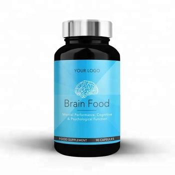 Brain Food Health Diet Supplement Vitamin Mineral Capsule Black Round  Premium Bottle Wholesale Diet Supplements Private Labelled - Buy Private  Label