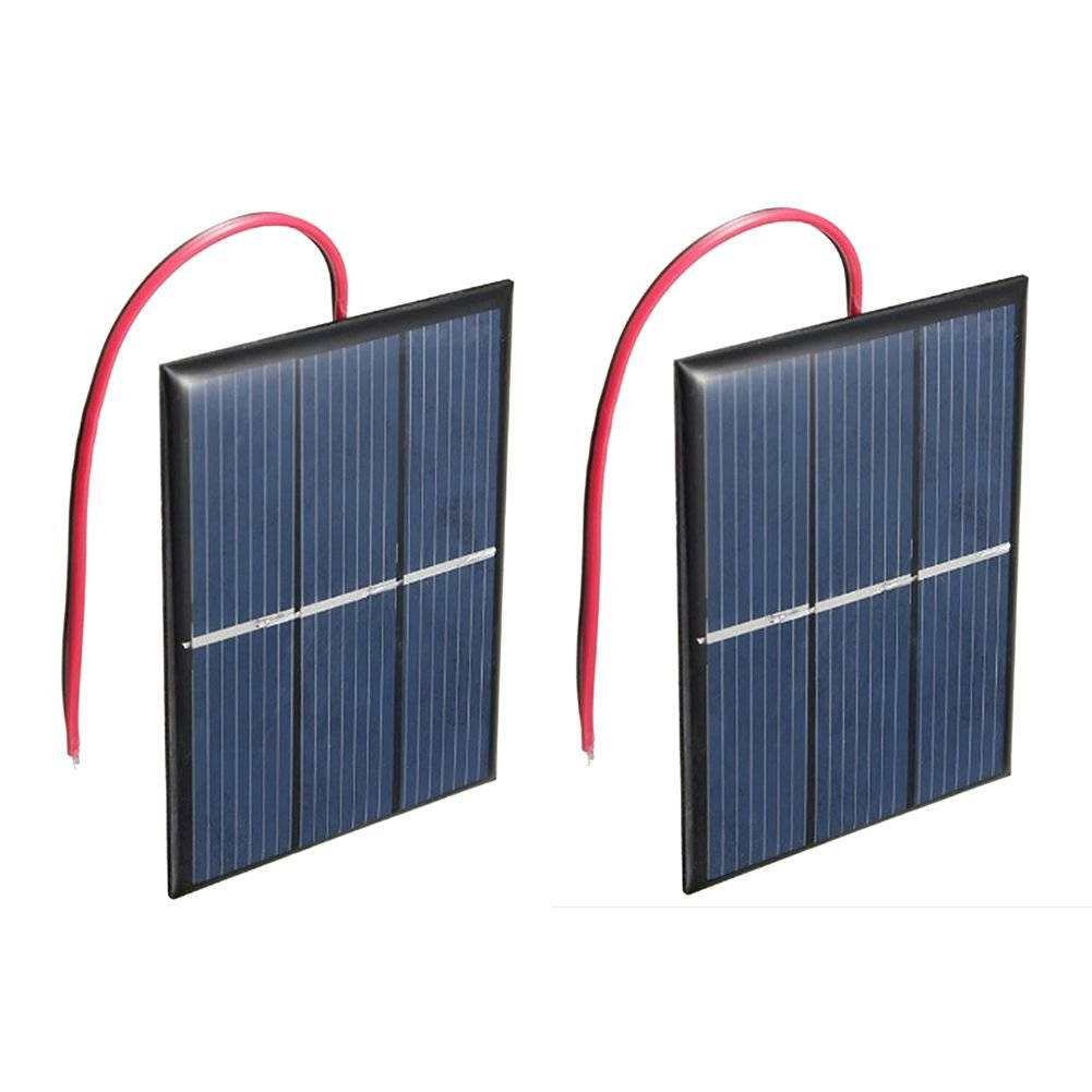 SODIAL(R) 2 pcs 1.5V 400mA 80x60mm Micro-Mini Power Solar Cells For Solar Panels - DIY Projects - Toys - Battery Charger