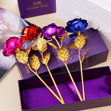 <span class=keywords><strong>Moederdag</strong></span> Valentijnsdag Present Gift Golden Rose Flower Holiday Wedding Party Decoratie Met Detailhandel Box