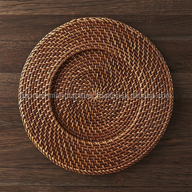 Unique rattan charger plate from VietNam