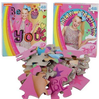Jojo Siwa Nickelodeon Dream Crazy Big 48pc Puzzle - Set of 2 (48 Piece), Pink