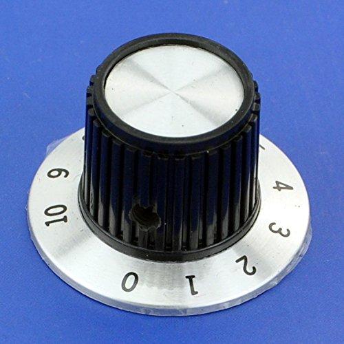 "Electronics-Salon 2PCS Pot Knobs, OD-1.46"" H-0.93"" Shaft 1/4"", KNOB-D02, for HAM Radio / Audio"