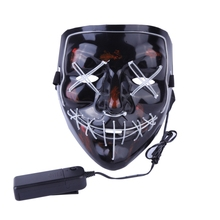 Hohe Helligkeit Halloween Licht Up Neon LED <span class=keywords><strong>Maske</strong></span> Konzert Scary Cosplay Purge <span class=keywords><strong>Maske</strong></span>