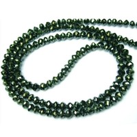 Natural roundel faceted Indian black diamond beads