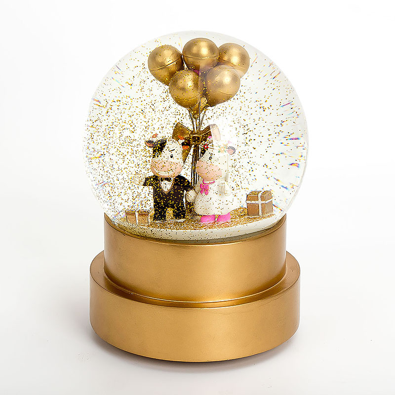 120 mm Queen Balloon Wedding Gifts For Guests Snow Globe High-Grade Wedding Souvenirs Gifts wedding