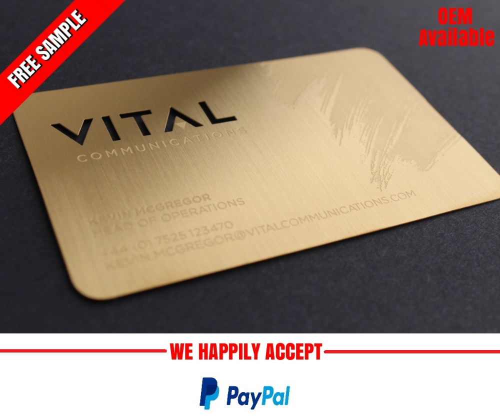High Quality Gold Metal Business Card Wholesale, Card Suppliers ...