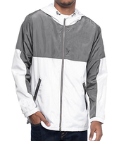 100% Polyester Soft Shell Two Toned Anorak Coach Jacket