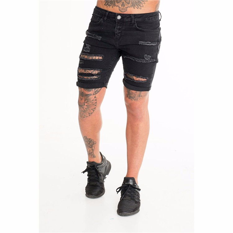 vast selection price reduced first rate Royal Wolf Denim Short Shorts Manufacturer Black Men Ultra Ripped ...