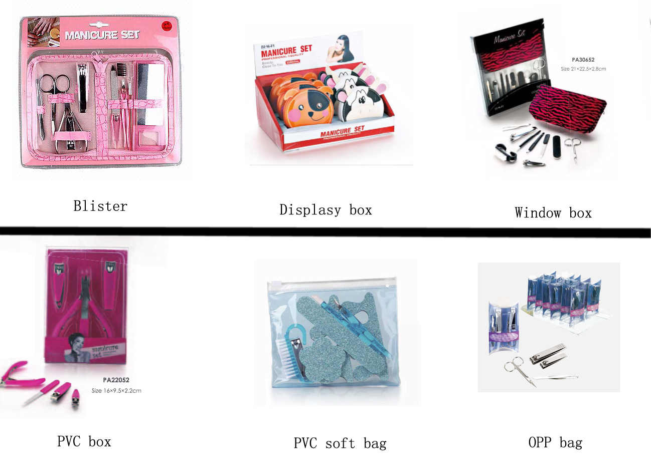 Full Extension Flamingo Pattern Stainless Steel+PU+PP Manicure Set Professional
