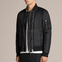stain wholesale blank men bomber jacket nylon