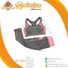 RF-256 Wholesale Women Cheap Fitness Bra Set with print your own logo and custom style